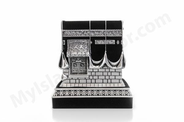 Mecca Ka'ba Model Silver Table Decor (Large)