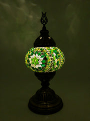 Mosaic Turkish Lamp Royal Green Medium