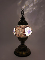 Mosaic Turkish Lamp Rose Gold Medium
