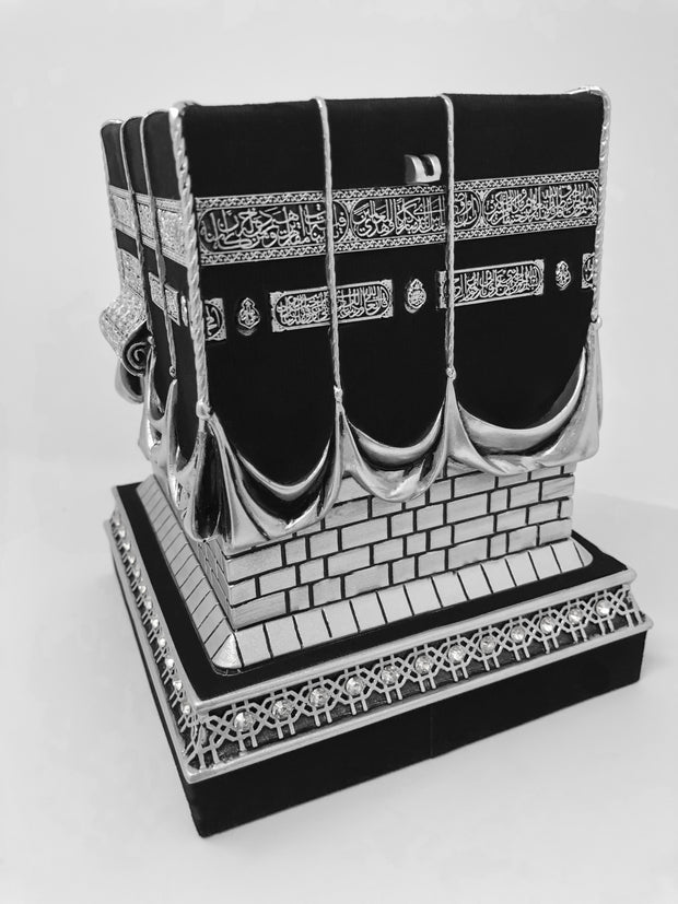 Mecca Ka'ba Model Silver Table Decor