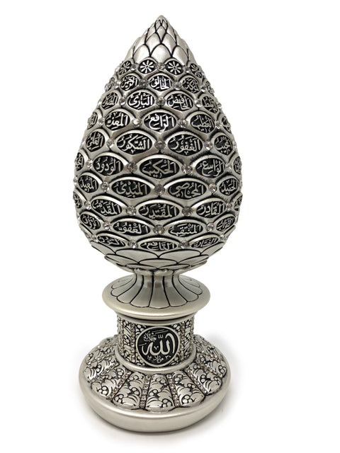 Names of Allah (SWT) Egg Shaped Islamic Table Decor (Mother Of Pearl 9.75in)