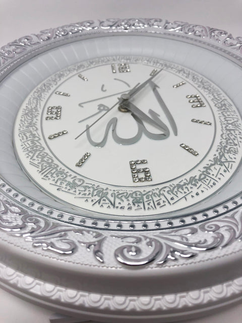 Islamic Oval Wall Clock Home Decor 3 colors
