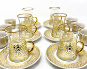 Istanbul Tea and Coffee Set- Gold