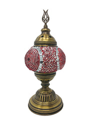 Mosaic Turkish Lamp Red Medium