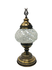 Mosaic Turkish Lamp White Medium