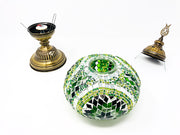 Mosaic Turkish Lamp Royal Green Large