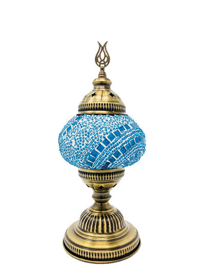 Mosaic Turkish Lamp light Blue Medium