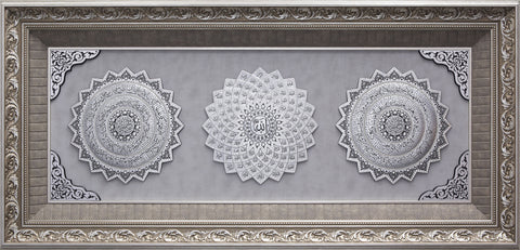 LARGE 4 Feet Wall Frame Silver