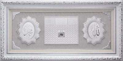 LARGE 6 Feet Wall Frame Silver/White