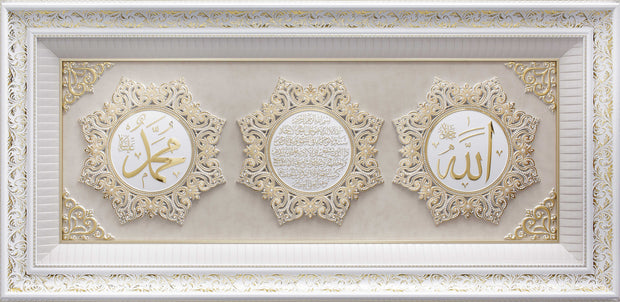 LARGE 5 Feet Wall Frame Gold/White