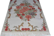 AYDIN Turkish Islamic Luxury Lavanta Large Prayer Rug Embroidered Floral Pattern- Red