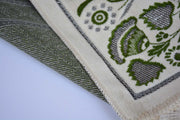 Plush Velvet Prayer Rug Luxury Islamic Muslim Sajadah- Green