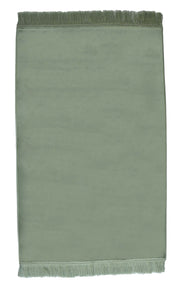 Turkish Prayer Rug Luxury Islamic Muslim Velvet Sajadah- Green