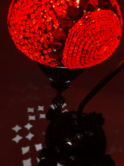 Mosaic Turkish Lamp Swan Neck Red
