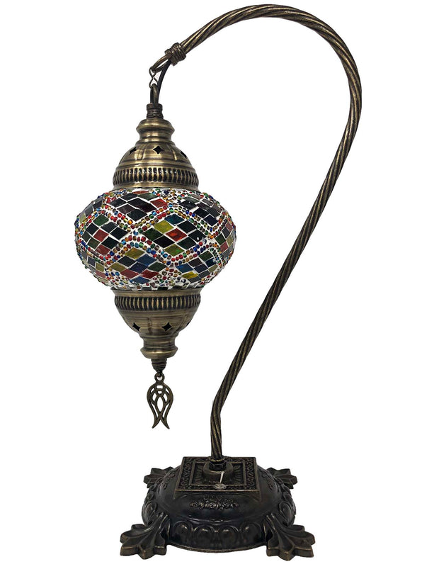Mosaic Turkish Lamp Swan Neck Four Seasons