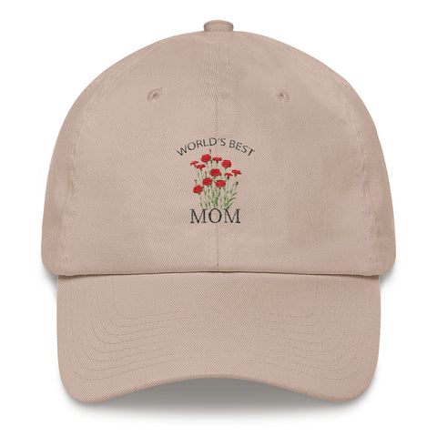 World's Best Mom Hat, Gift for Mom, (Mother's Day)