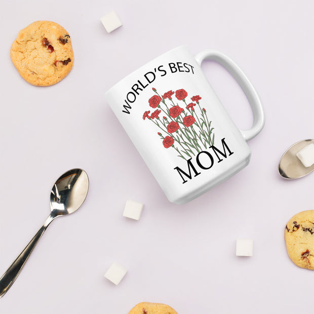 Mother's Day Mug - World's Best Mom - Mom From Son, Mom From Daughter.