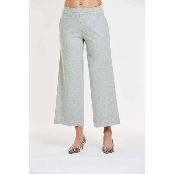 Ankle Length Wide Leg Pant - 1X / Grey Heather - Pants Bottom