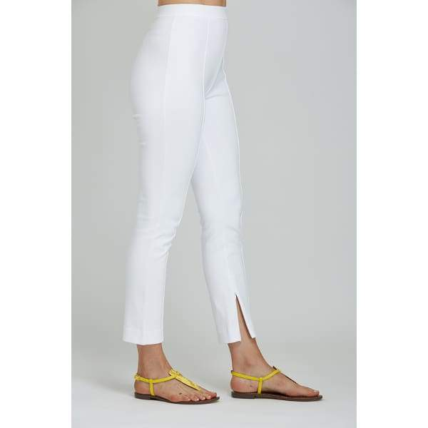 White Ankle Seam Pant - Pants Bottom