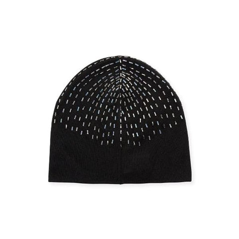 Black Beaded Hat - OS / Black - Accessories