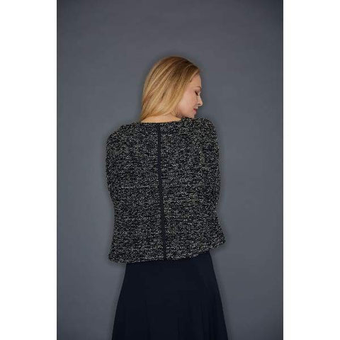 Black Boucle Pullover - Top