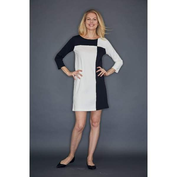 Black Colorblock Interlock Dress - Black Cbo - Dress
