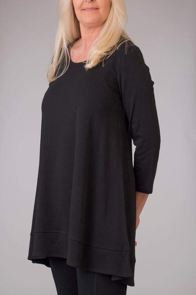 Black High Low Tunic - Black - Tunic
