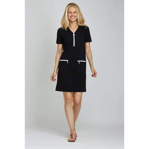 Black Mod Dress - Black - Dress