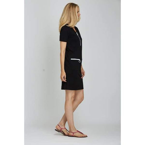 Black Mod Dress - Dress