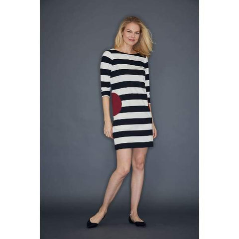 Black Stripe Dress - Black Cbo - Dress