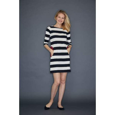 Black Stripe Dress - Dress