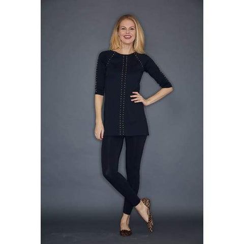 Black Studded Tunic - Top