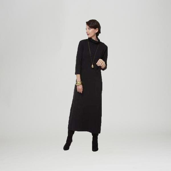 Black Turtleneck Dress - black - Dress