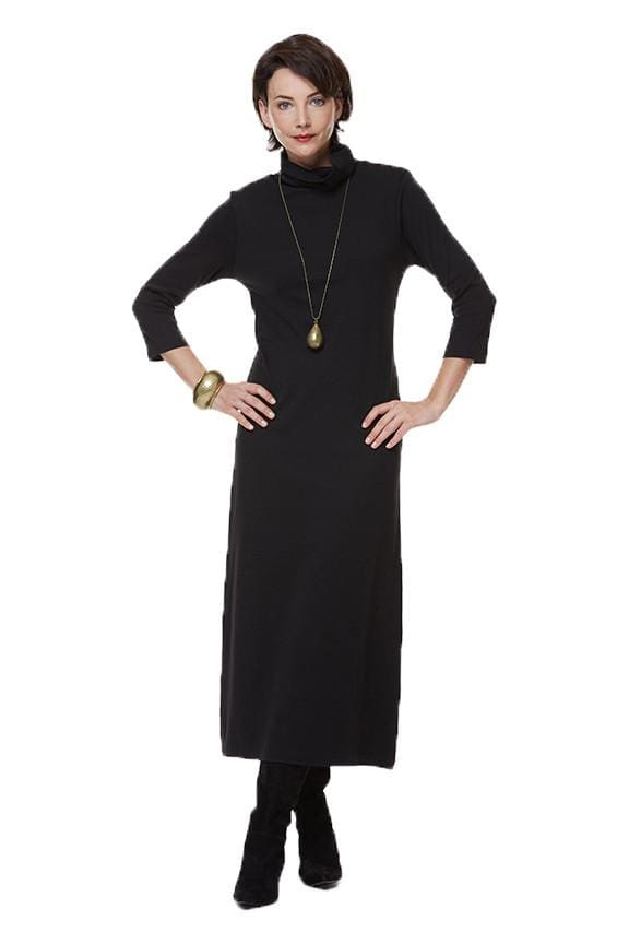 Black Turtleneck Dress - Dress