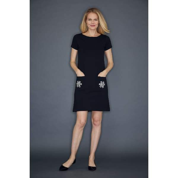 Black Two Pocket Dress - Black - Dress