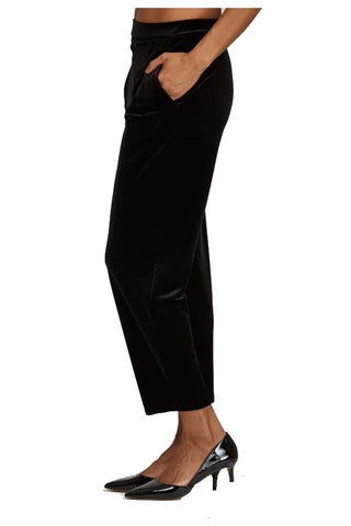 Black Velvet Pant - Pants Bottom
