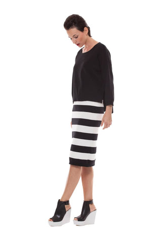 Bold Striped Skirt - black - Skirt Bottom