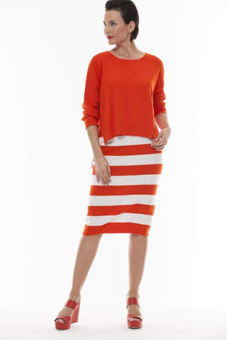 Bold Striped Skirt - orange - Skirt Bottom