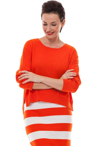 Bold Striped Skirt - 1 / orange - Skirt Bottom