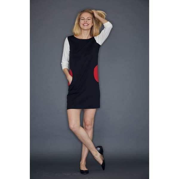 Colorblock Pocket Dress - Dress