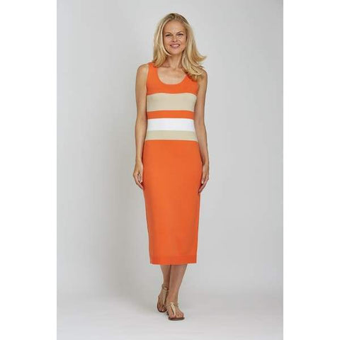 Colorblock Sweater Dress - Orange Cbo - Dress