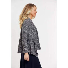 Draped Front Open Jacket - Jackets