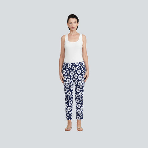 Floral Print Pant - Navy Floral - Pants Bottom