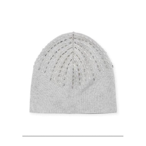 Grey Beaded Hat - OS / Grey Heather - Accessories