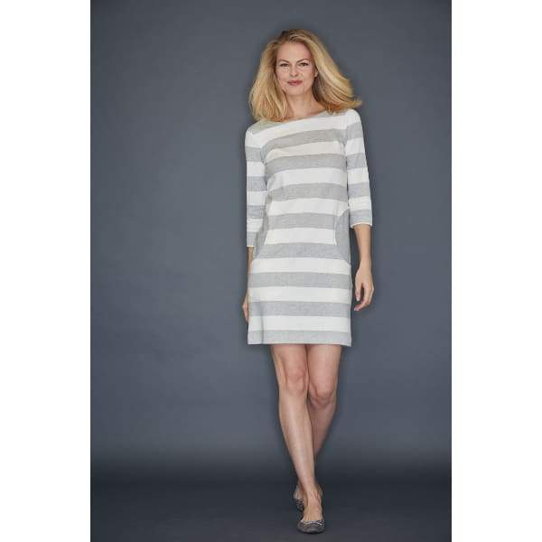 Grey Stripe Dress - Grey Heather - Dress