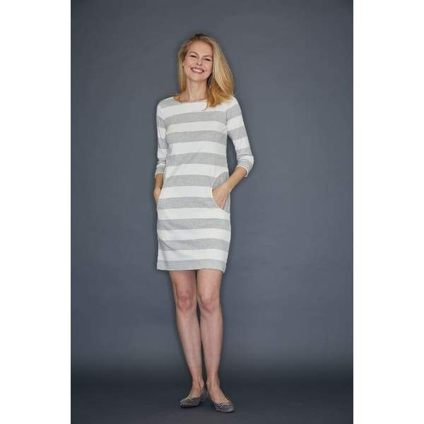 Grey Stripe Dress - Dress