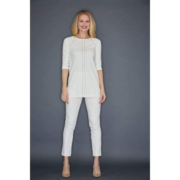 Ivory Studded Tunic - Top