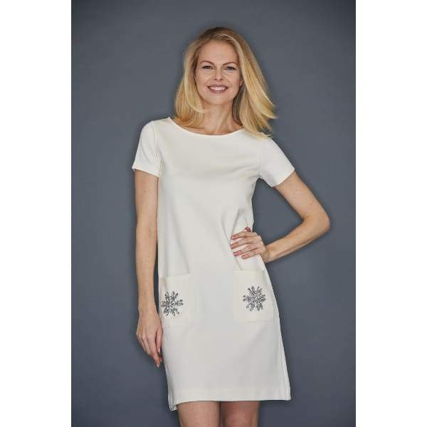 Ivory Two Pocket Dress - Dress