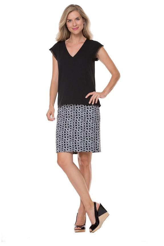 Jacquard Skirt - 00 / Black/ White - Skirt Bottom