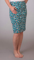Leopard Skirt - Turquoise - Skirt Bottom